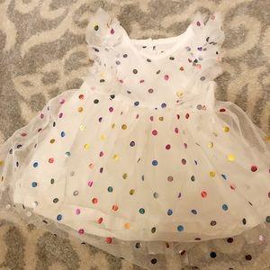 Little Girls Polka Dot Party Dress